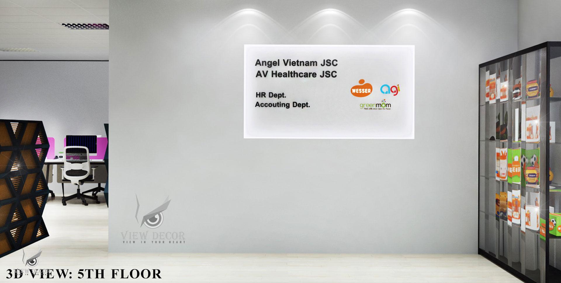 Thi Công Văn Phòng công ty ANGEL VIỆT NAM