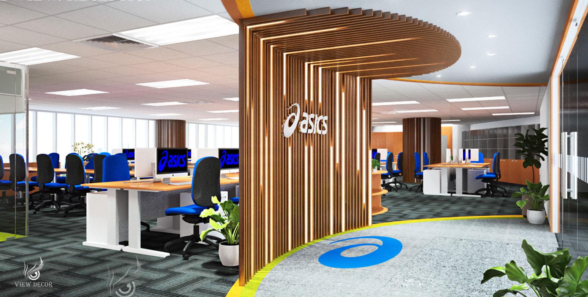 Thi Công Văn Phòng công ty ASICS