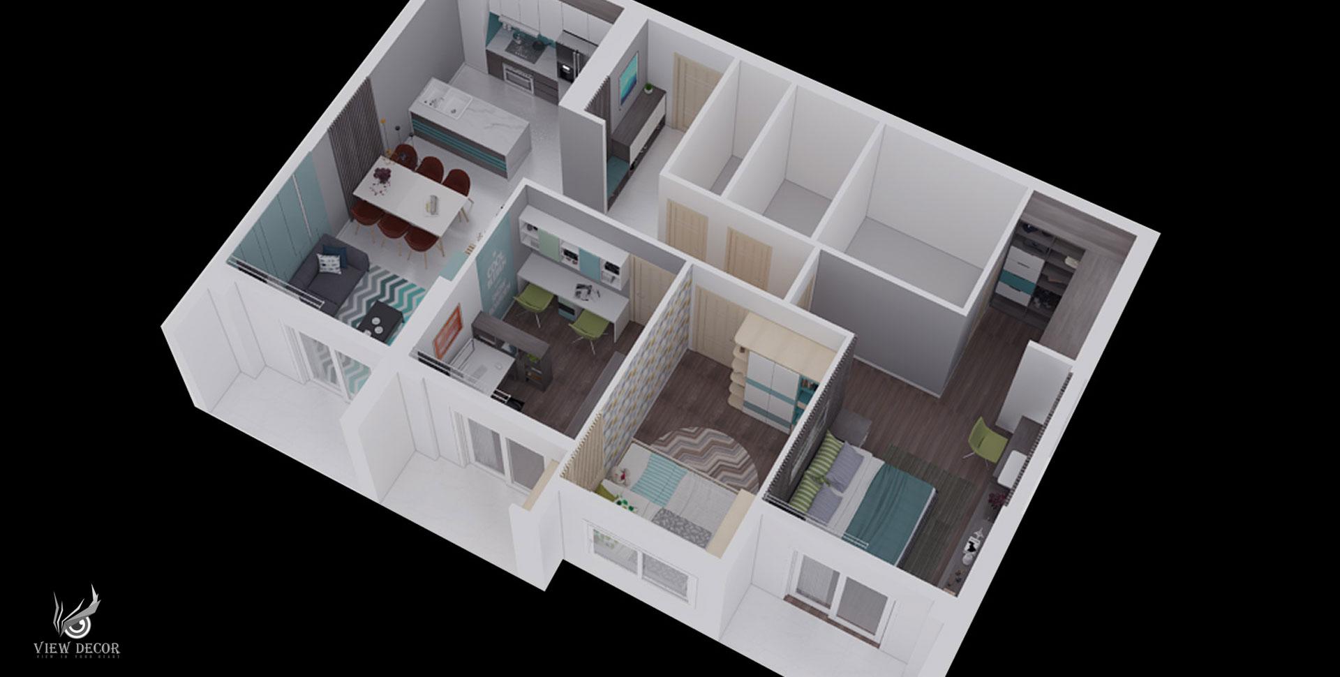 Thiết kế và thi công nội thất căn hộ GOLDEN MANSION